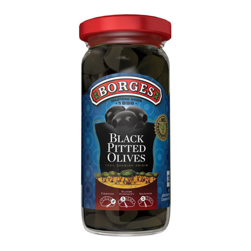 Mustad kivideta oliivid Borges 220/110g