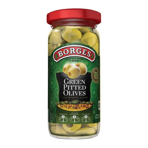 Rohelised kivideta oliivid Borges 220/110g
