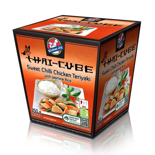 Teriyaki kana jasmiiniriisiga magusas tšillikastmes, sügavkülmutatud 350g