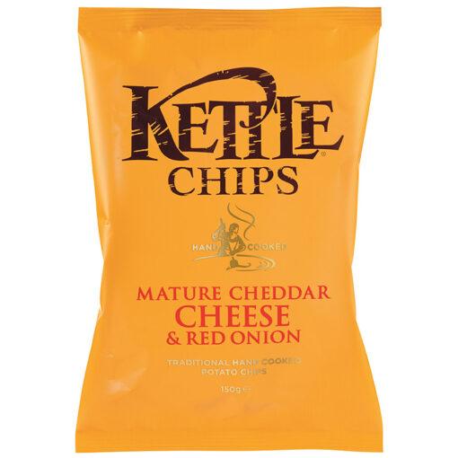 Kartulikrõpsud Cheddari juust & punane sibulaga